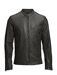 Leather jacket simple, mandari - 965 Steel Gray