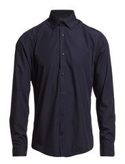 SHIRT L/S with contrast - Navy