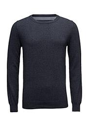 Knit O-neck - DARK DENIM