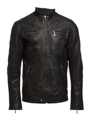 Leather Jacket - 997 Jet Black