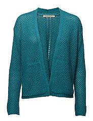 Knitted Jacket Short 1/1 Sleev - CARIBBEAN SEA