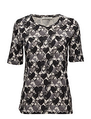 Shirt Long 1/2 Sleeve - BLACK/STONE