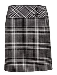 Skirt Short Polyester - BLACK/CREAM