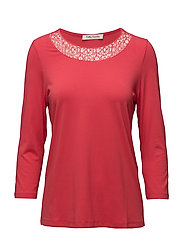 Shirt Long 3/4 Sleeve - CORAL RED