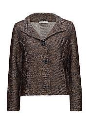 Shirt Jacket Short 1/1 Sleeve - DARK BLUE/BROWN