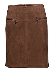 Skirt Short Sweat - DEEP COGNAC