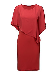 Dress Short 1/2 sleeve - CORAL RED