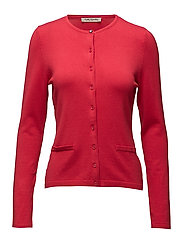 Knitted Jacket Short 1/1 Sleev - CORAL RED