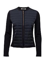 Knitted Jacket Short 1/1 Sleev - DARK SKY