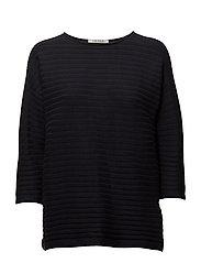 Knitted Jacket Short 3/4 Sleev - DARK SKY
