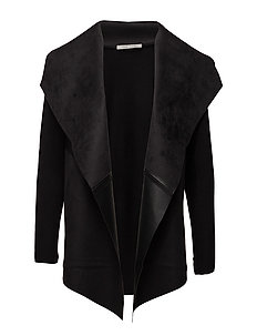 Knitted Jacket Long 1/1 Sleeve - BLACK