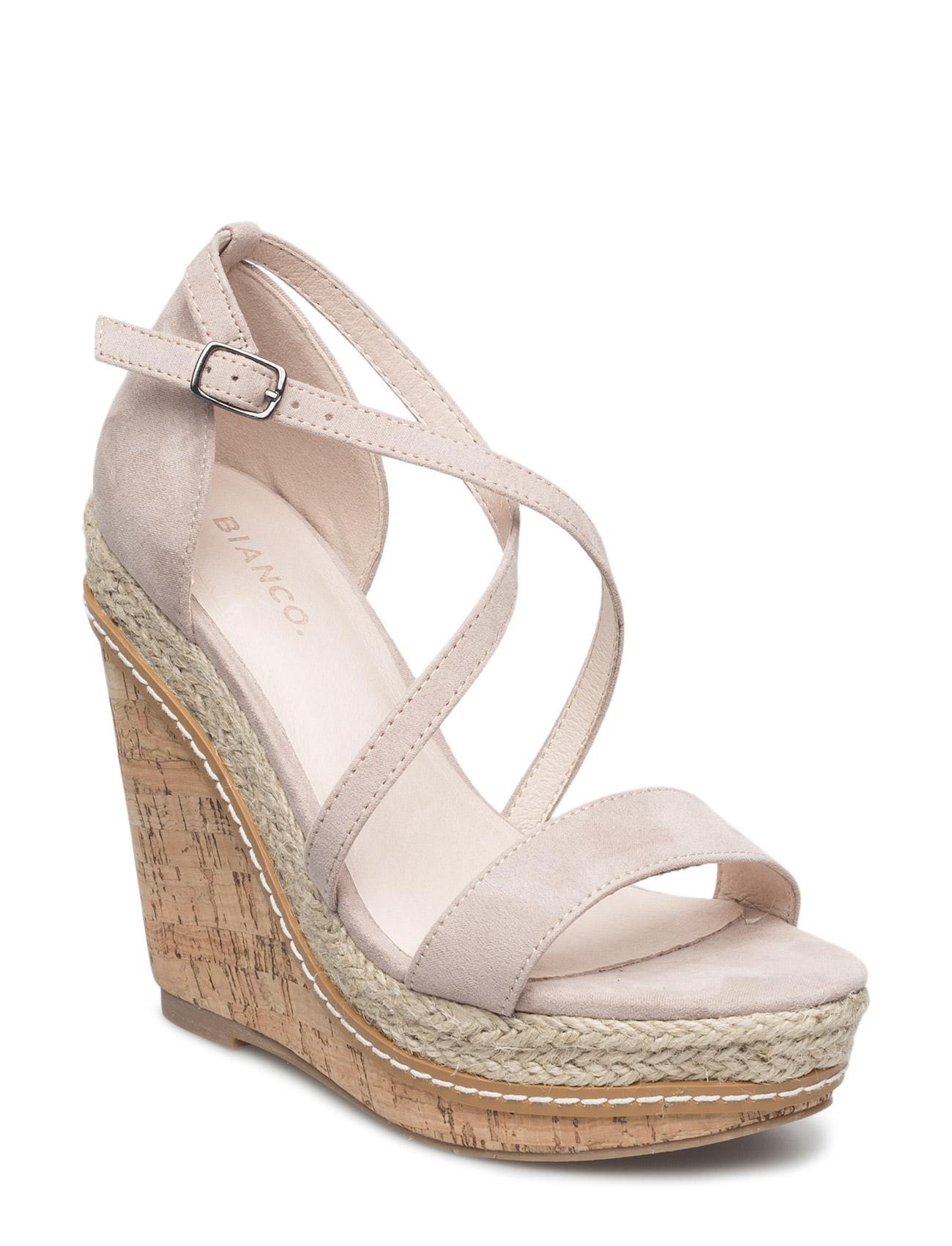 Simple Wedge Sandal Mam16 Bianco Sandaler til Kvinder i Sort