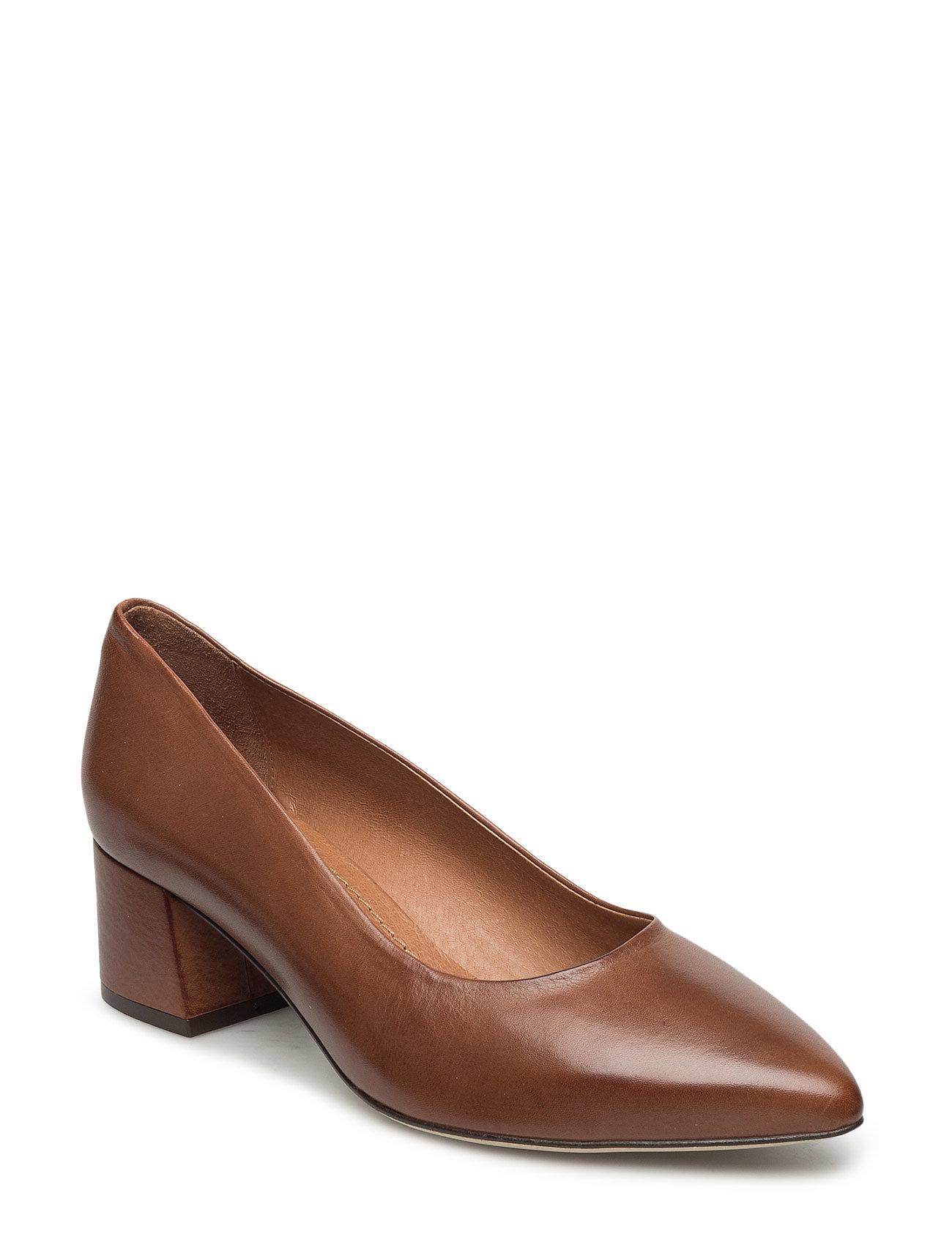 Court Shoe Exp16 Bianco Stiletter til Damer i Lysebrun