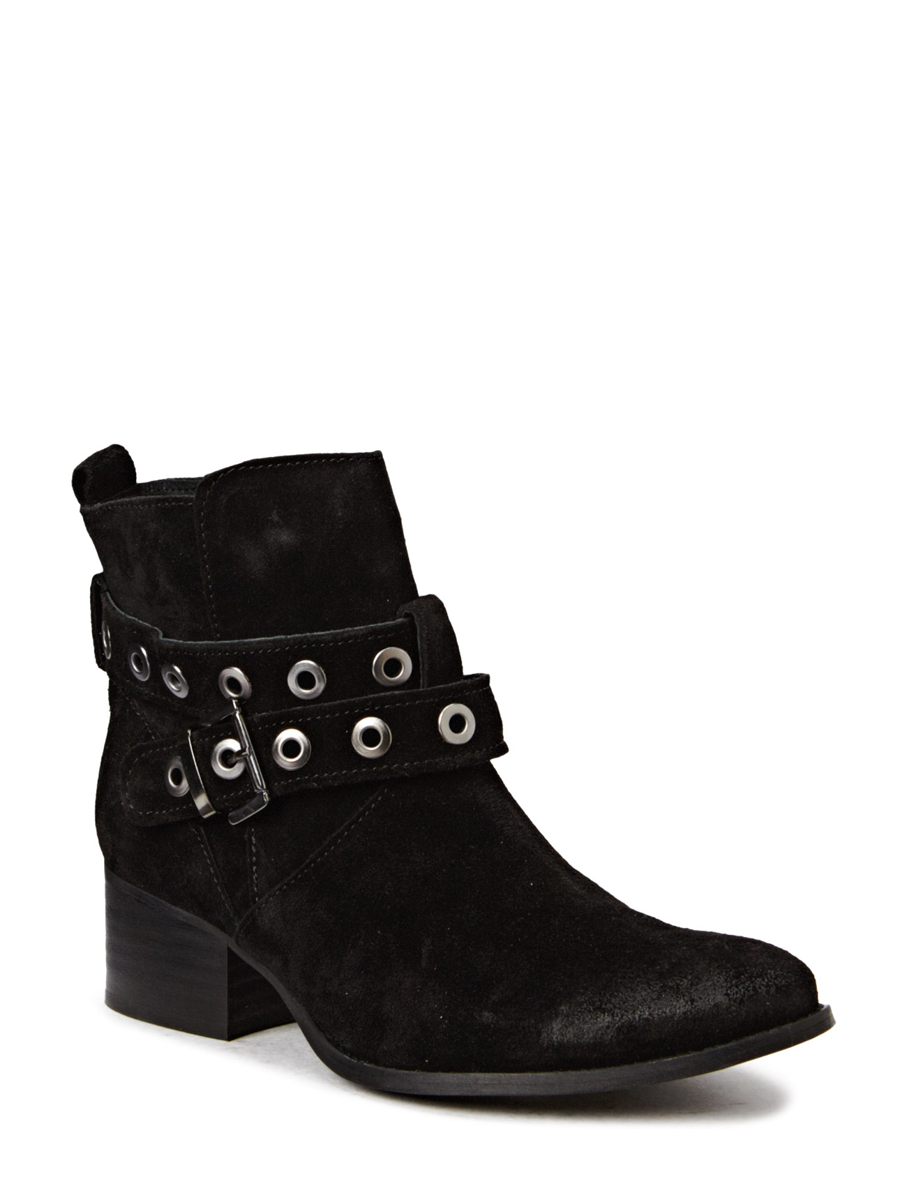 Boot W/Heavy Strap Jja15 Bianco Støvler til Kvinder i Sort
