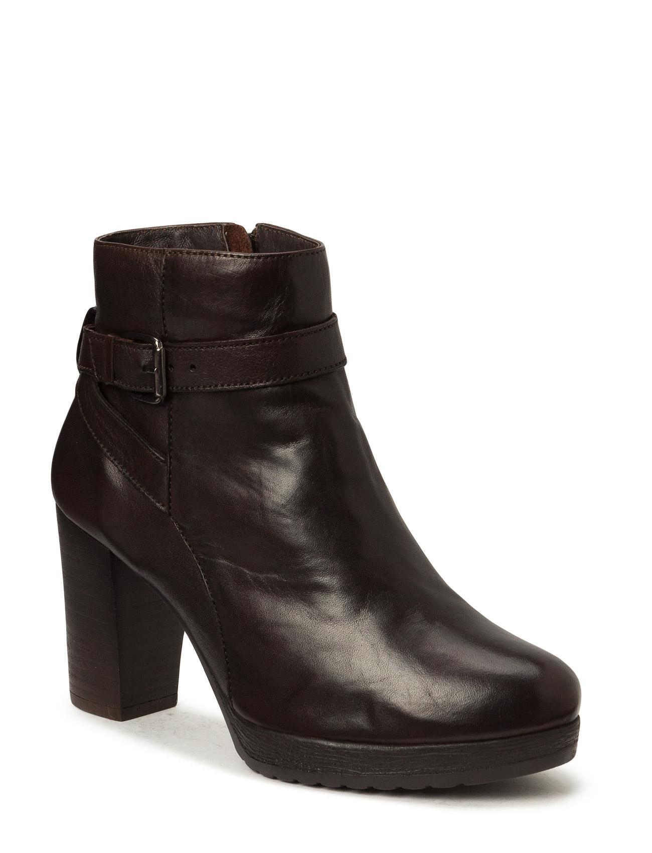 Dress Boot W/Buckle Son15 Bianco Støvler til Kvinder i
