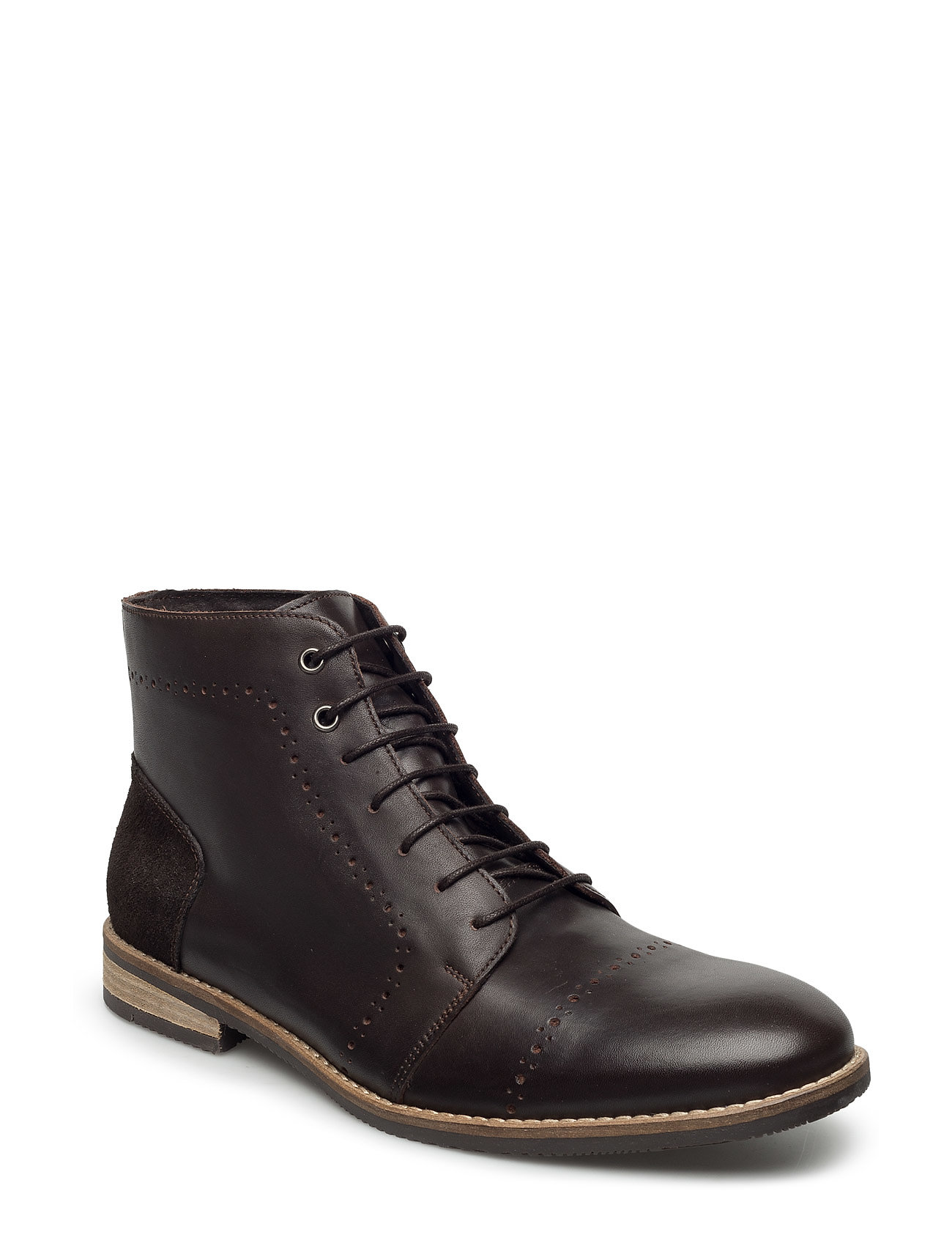 Brogue Boot Exp16 Bianco Sko til Mænd i Mørkebrun