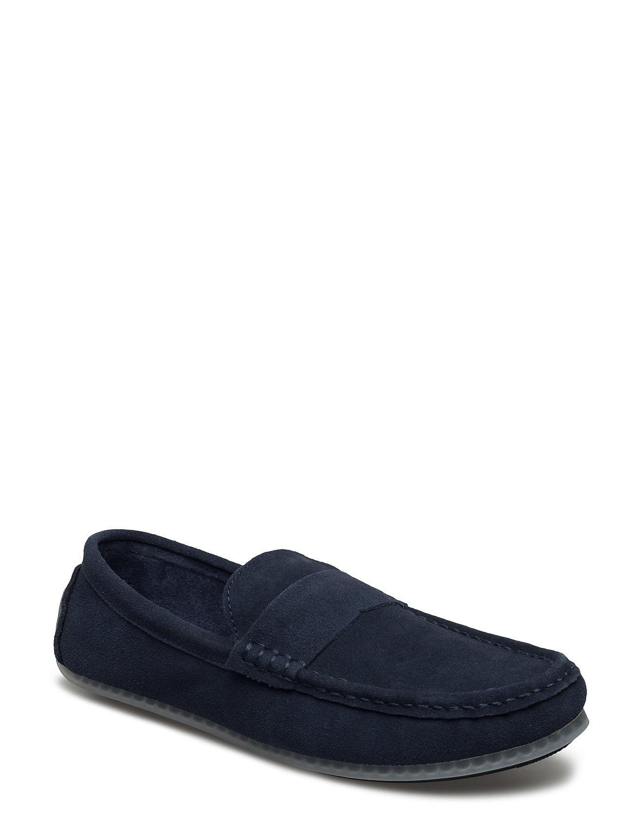 Suede Loafer Bianco Casual sko til Herrer i Marine blå