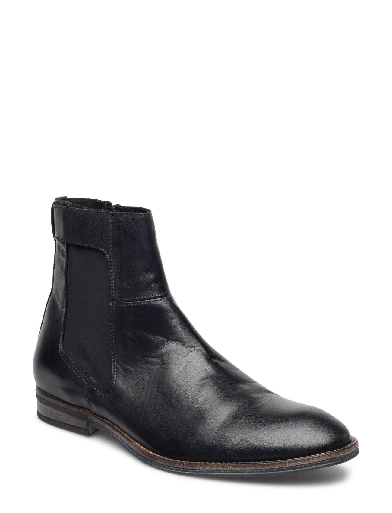 High Cut Chelsea Jja16 Bianco Støvler til Mænd i Sort