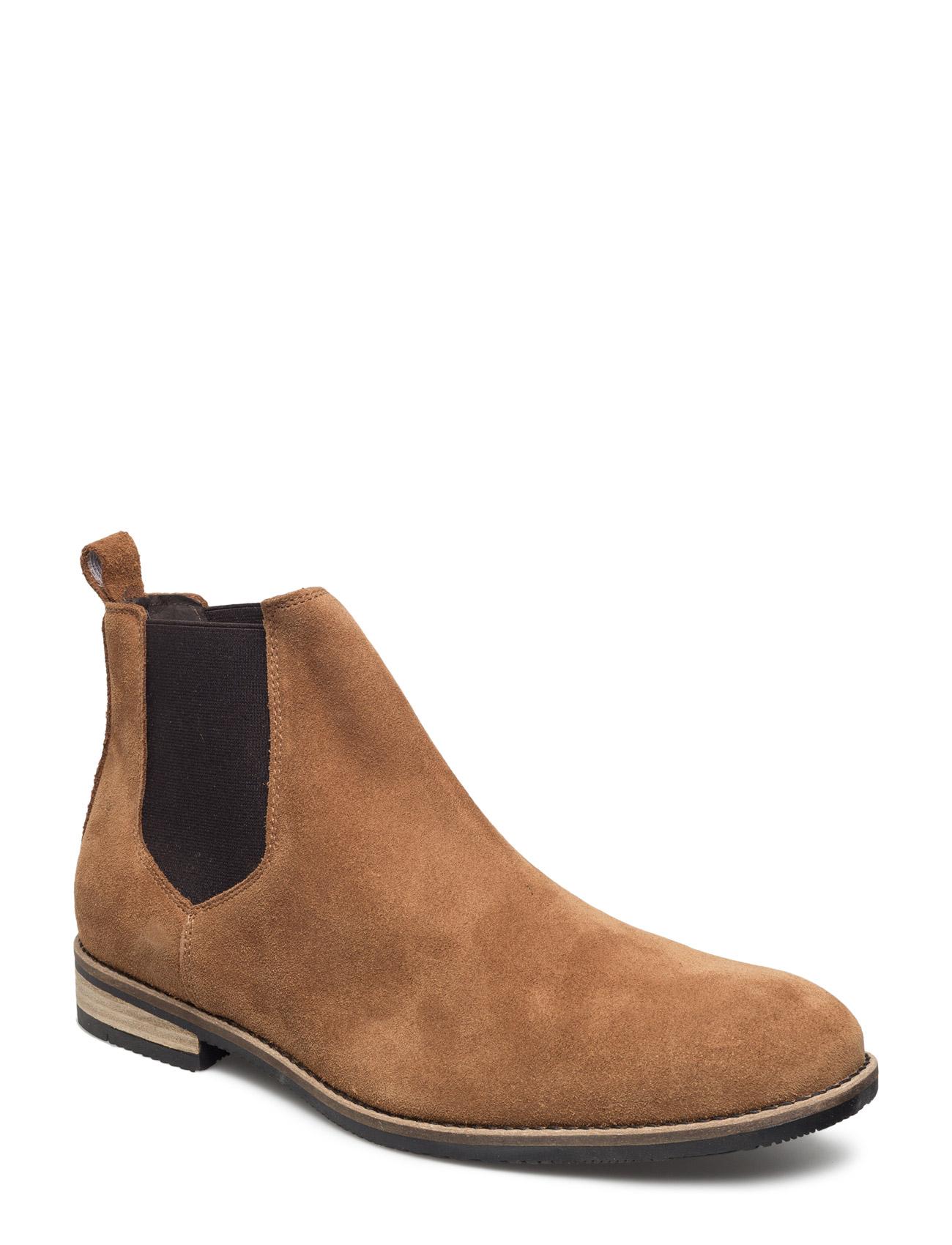 Suede Cas, Chelsea Son16 Bianco Støvler til Mænd i Lysebrun