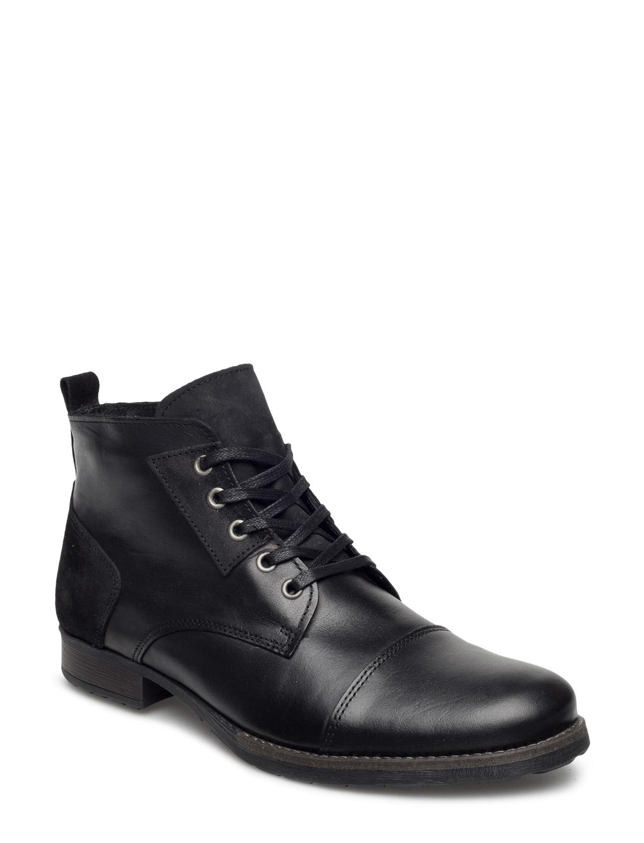 Warm Low Boot Son15 Bianco Støvler til Mænd i Sort