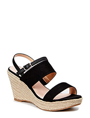 Bast Wedge sandal MAM15 - Black