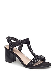 Sandal with Heavy Studs JFM18 - 10-BLACK