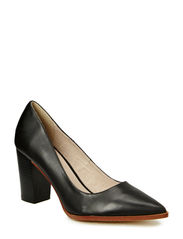 Pointy Leather Pump DJF15 - Black