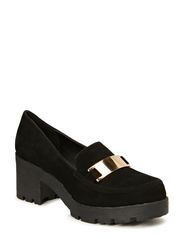 Metal Plate Loafer JJA14 - Black
