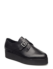 Flatform Buckle Loafer JJA16 - BLACK