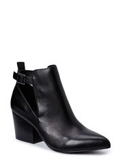 Leather Boot/ Open side DJF15 - Black
