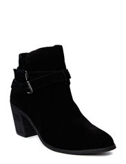 Suede Strap Boot DJF15 - Black