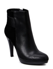 Mixed Leather/Suede Boot DJF15 - Black