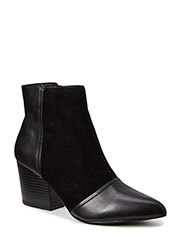 Leather/Suede Boot JJA15 - Black