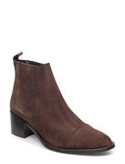 CP Suede Ankle Boot SON15 - DARK BROWN