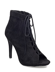 Laced Up Boot DJF16 - BLACK