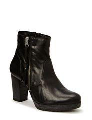 Platform Leather Boot JJA14 - Black