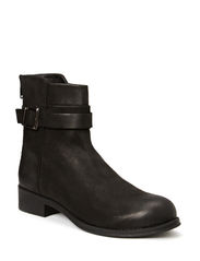 Ankle Leather Boot JJA14 - Black