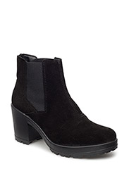 Low Cut Suede Chelsea JJA16 - BLACK