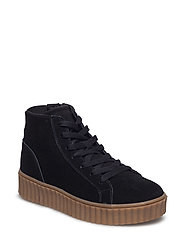Laced Up Suede Boot JAS17 - BLACK