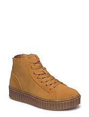 Laced Up Suede Boot JAS17 - MUSTARD