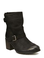 Boot w/Zip and Buckles JJA14 - Black
