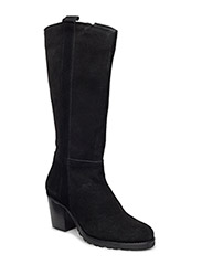 Long Suede Boot JJA16 - BLACK