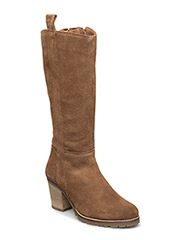 Long Suede Boot JJA16 - LIGHT BROWN