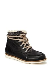 Warm Leopard Boot SON14 - Black