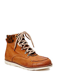 Warm Leopard Boot SON14 - Light Brown