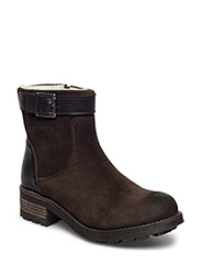 Warm Suede Biker JJA16 - DARK BROWN