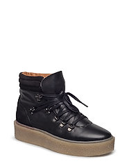 Platform Warm Hiker Boot JAS17 - BLACK