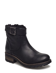 Warm Buckle Boot - BLACK