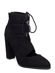 Laced Up Boot  - BLACK