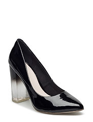Clear Heel Pump EXP16 - BLACK
